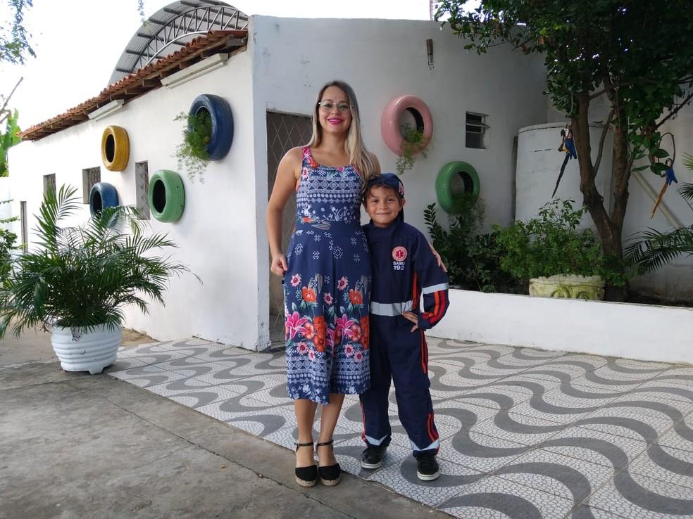 Anna Gabriella Barreto mãe de Walter Neto — Foto: Rafaela Leal / G1 PI