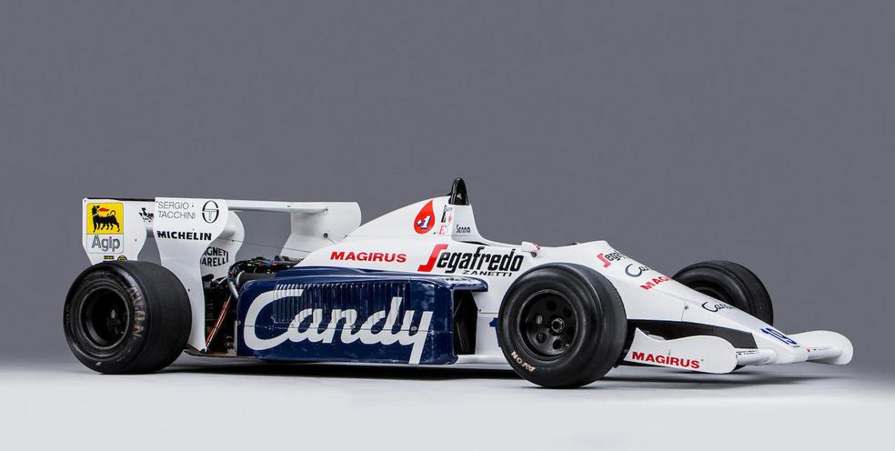 Um Toleman pilotado por Senna também foi leiloado (Foto: Divulgação)