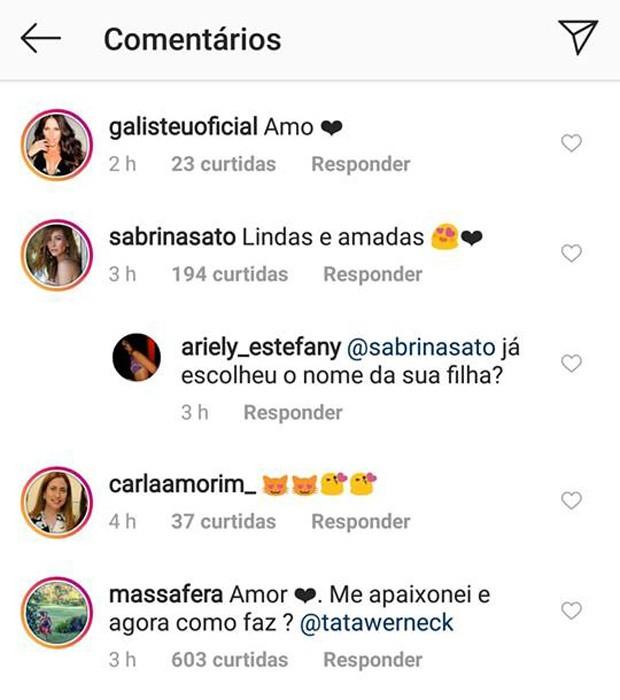 Grazi Massafera comenta post com declaração de Tatá Werneck (Foto: Reprodução/Instagram)