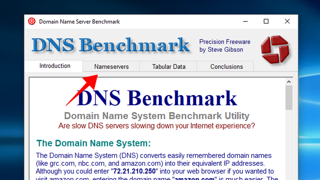 dns benchmark download 2018