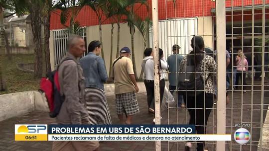 Denúncia de problemas na UBS Jardim Farina, em São Bernardo do Campo