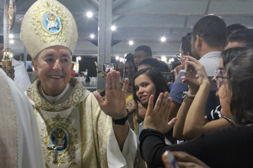 Arcebispo de Cuiabá vai celebrar missa de lançamento da campanha da fraternidade — Foto: Rafaela Maximiano/Assessoria