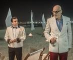 Rodrigo Fagundes e Marcos Caruso gravam 'Pega ladrão' | TV Globo/João Cotta