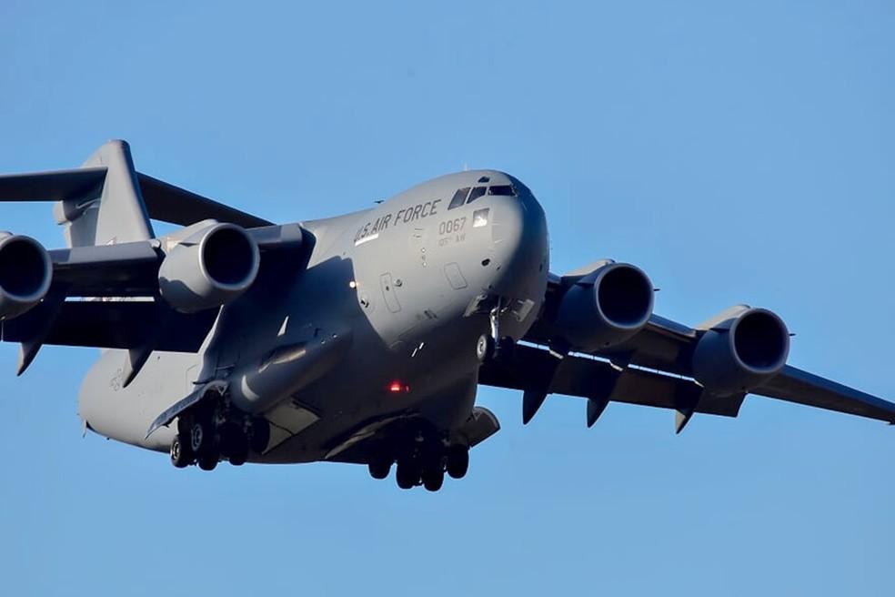 Força Aérea Americana também está presente - CRUZEX 2018 — Foto: Pedro Vitorino