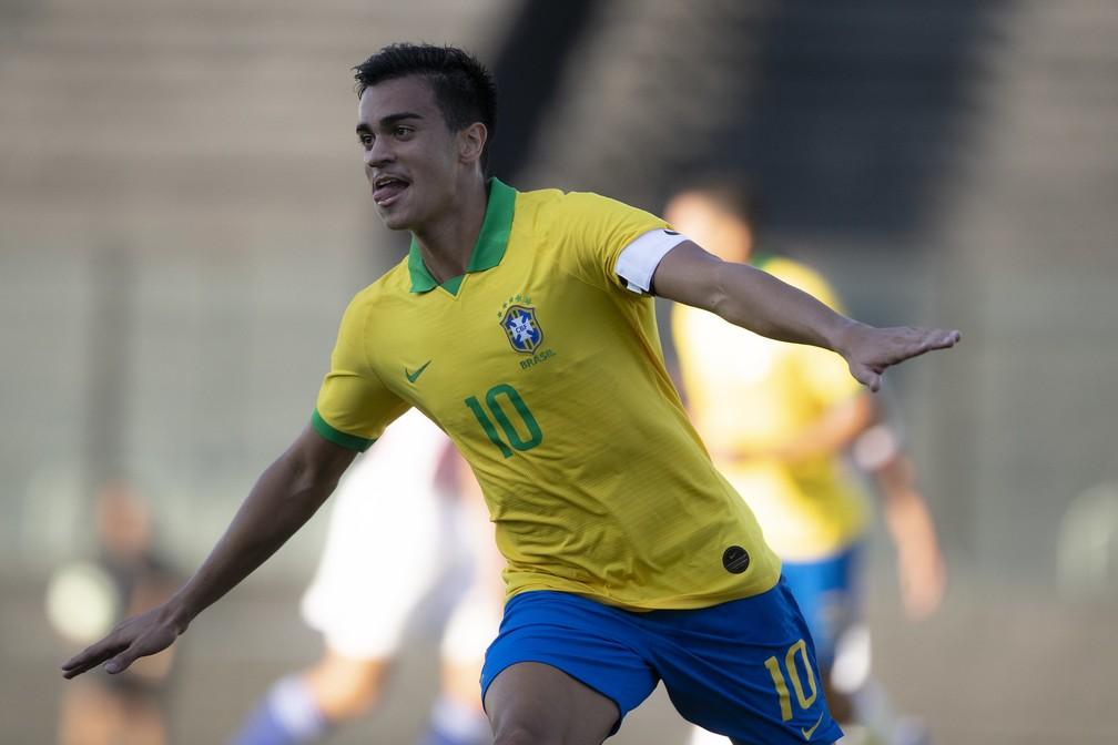 Reinier tem chance de disputar o Mundial sub-17 e atrair mais interessados — Foto: Divulgação / CBF