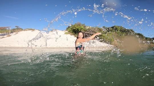 Briza Menezes faz um tour pelas lagoas de Baixio