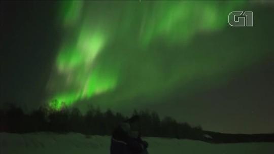 VÍDEO: Norte da Finlândia tem aurora boreal