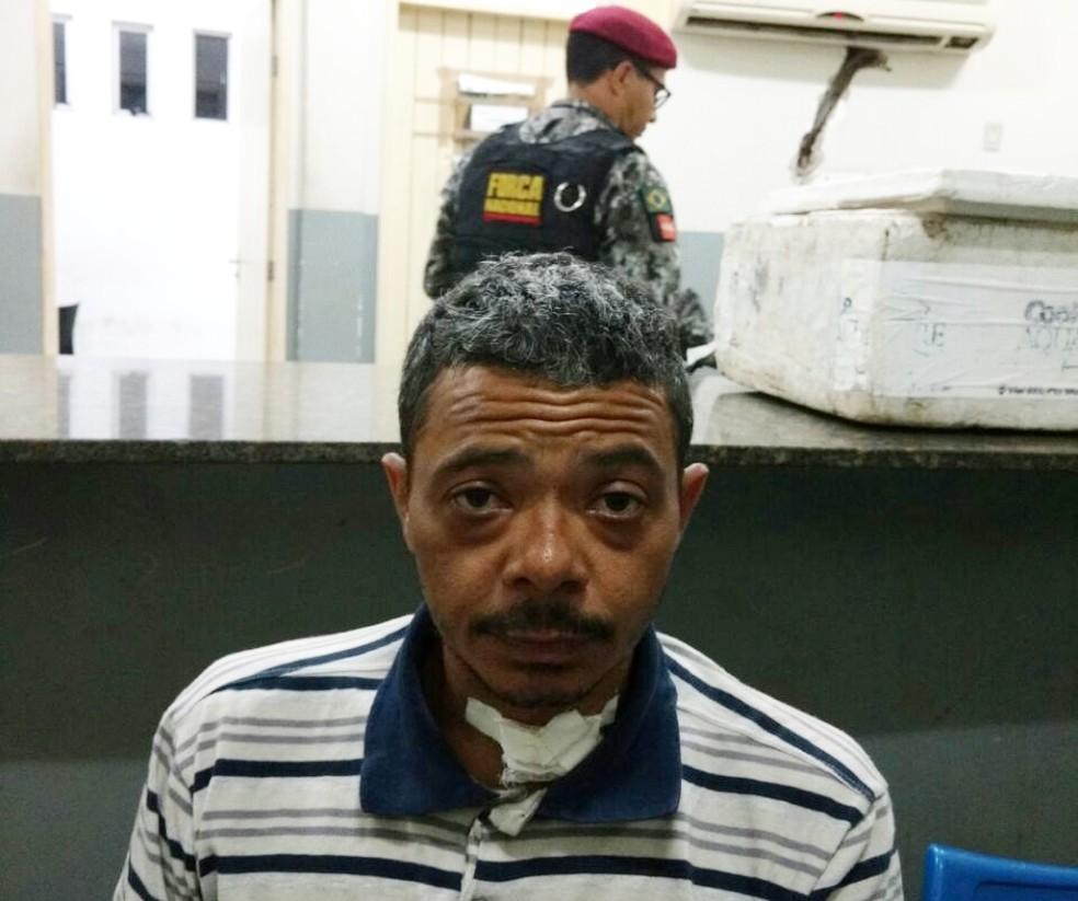 Jean Alves de Lima foi recapturado por PMs que integram a Força Nacional (Foto: Divulgação/PM)