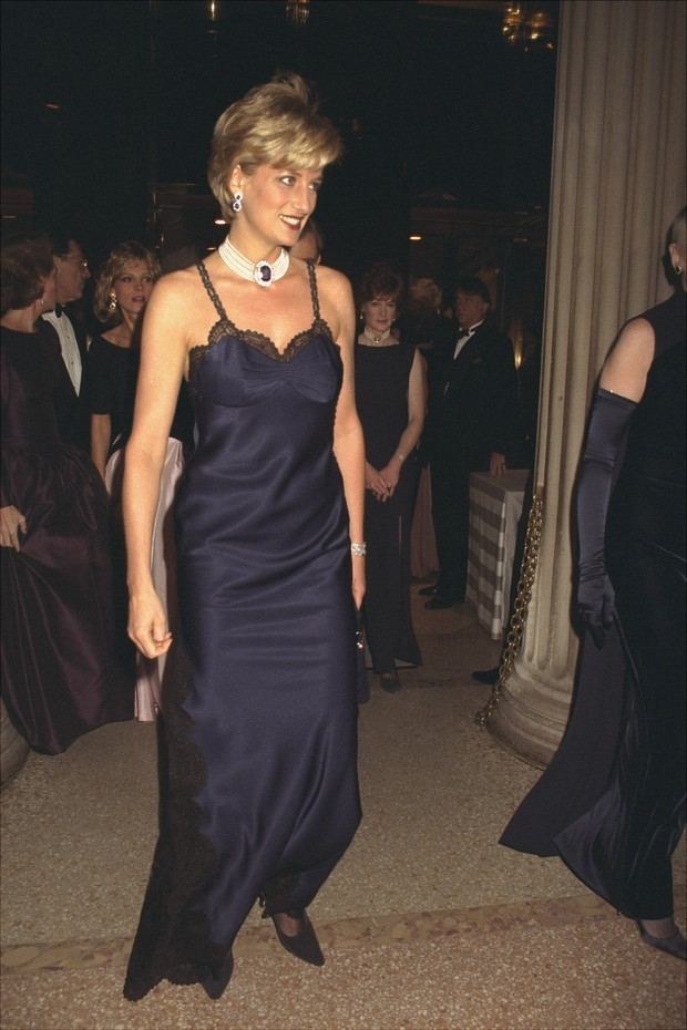 Diana, Princess of Wales at Costume Institute Gala at Metropolitan Museum of Art for a benefit ball.(Photo By: Richard Corkery/NY Daily News via Getty Images) (Foto: NY Daily News via Getty Images)