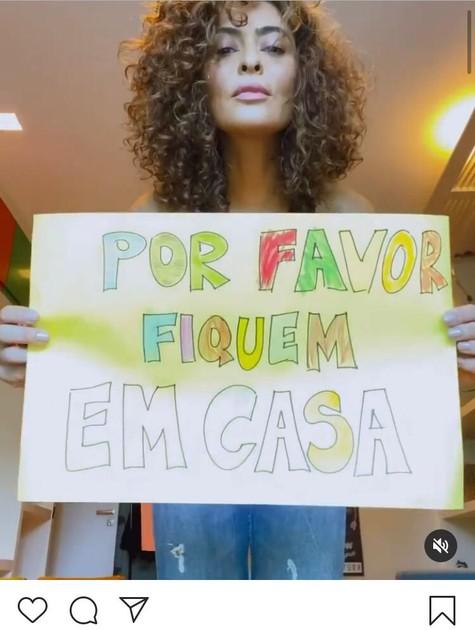 Postagem de Juliana Paes nas redes (Foto: Reprodução/Instagram)