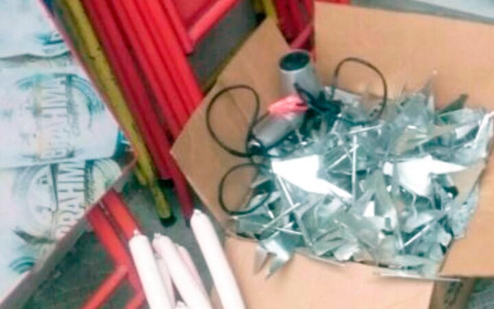 Bananas de dinamites foram encontradas em casas dos suspeitos (Foto: Divulgação/SSP-BA)