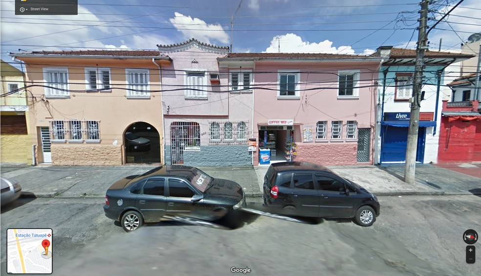 Registro de 2010 das casas que ocupavam espaço onde foi erguido o prédio mais alto de São Paulo, o 'Platina 220', no Tatuapé, na Zona Leste — Foto: Reprodução/Google Street View