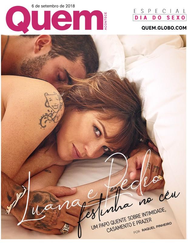 Luana Piovani e Pedro Scooby na capa da QUEM (Foto: Nana Moraes)