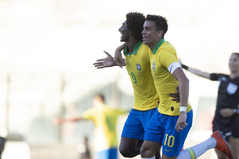 Renier Talles Magno Brasil Paraguai amistoso sub-17 julho — Foto: Lucas Figueiredo/CBF