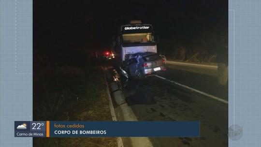 Professor morre em acidente com animal na pista e carreta na BR-459