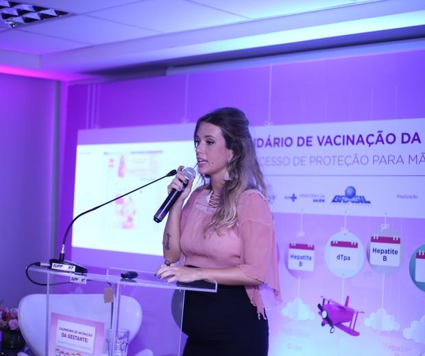 Juliana Didone é a madrinha da campanha de vacinação da Sbim (Foto: Divulgação Sbim)