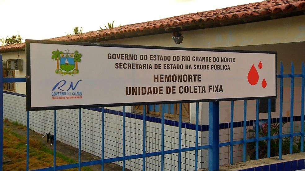 Unidade do Hemonorte da Zona Norte de Natal fica no conjunto Santarém — Foto: Reprodução/Inter TV Cabugi