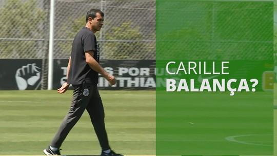 Treino do Corinthians tem conversa de Carille com Ralf e cobranças de Ramiro
