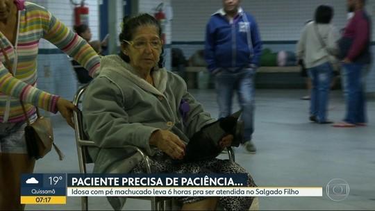 Idosa com perna quebrada leva 6 h para ser atendida em hospital no Rio