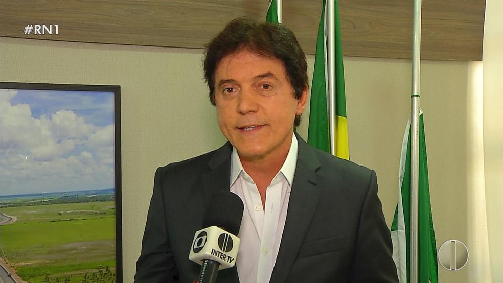 Robinson Faria (PSD) ficou em terceiro lugar no primeiro turno da eleição para o governo do RN em 2018 — Foto: Reprodução/Inter TV Cabugi