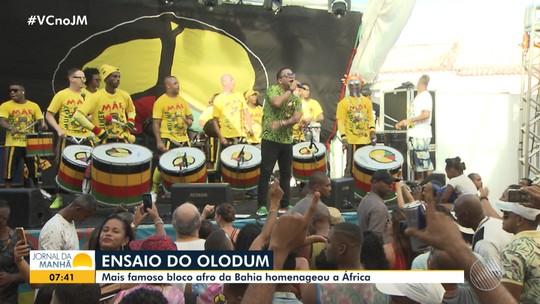 Grupo Olodum promove ensaio para homenagear a África e divulgar o tema do carnaval 2020