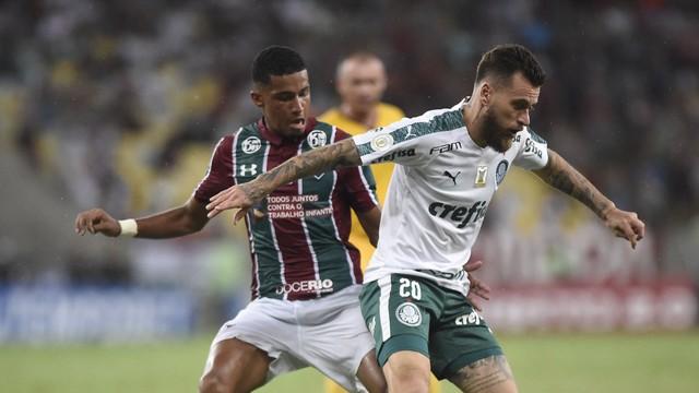 Lucas Lima entrou no segundo tempo no Palmeiras