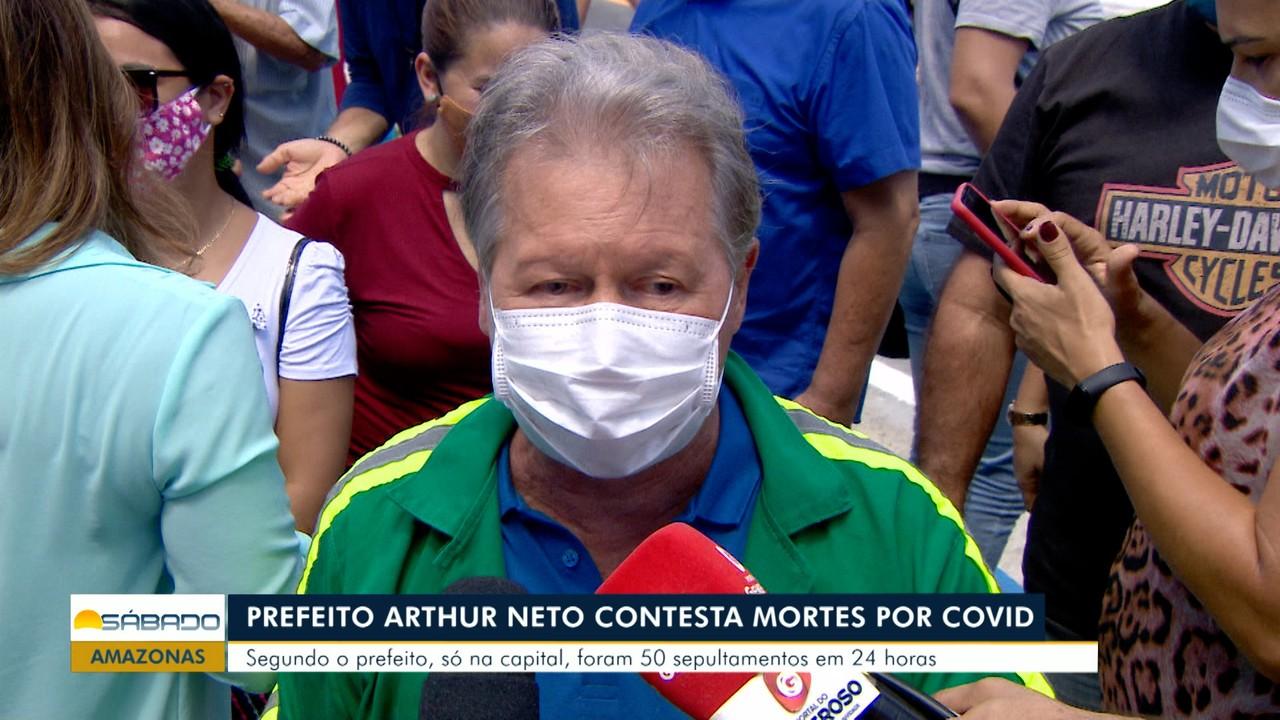 Prefeito Arthur Neto contesta mortes por Covid em Manaus