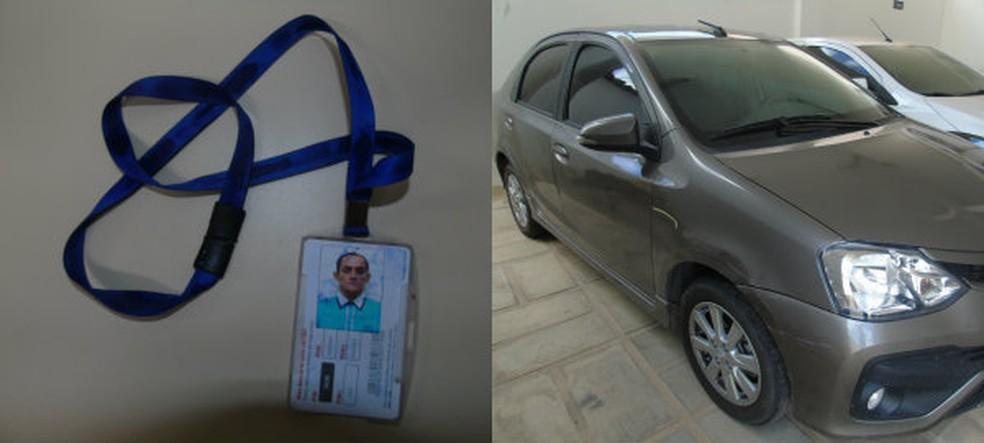 Carro roubado e documentos falsos foram encontrados com foragidos (Foto: Divulgação/ Polícia Civil)