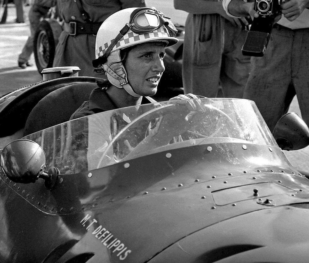 Maria Teresa de Filippis correu três provas nos anos 1950 (Foto: Getty Images)