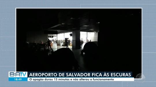 Aeroporto de Salvador fica sem energia elétrica após falha na subestação de São Cristóvão