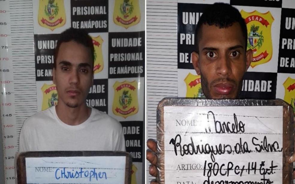 DGAP também divulgiou fotos dos foragidos Christopher Marquese Marcelo Rodrigues da Silva — Foto: DGAP/Divulagção