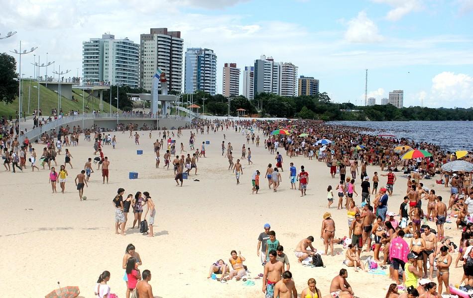 Praia da Ponta Negra fechará para banho nos dias de Boi Manaus - Notícias - Plantão Diário