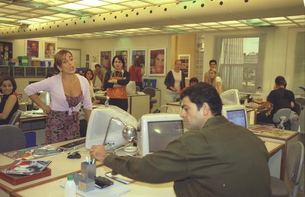 Com Eduardo Moscovis em 'Desejos de mulher' (Foto: Carlos Ivan/TV Globo)