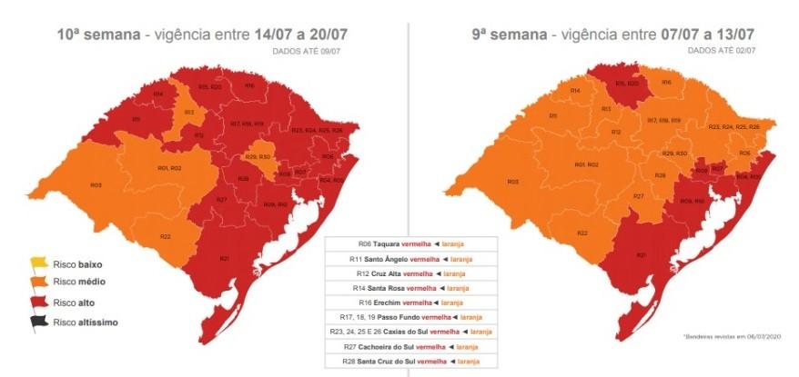 Governo do RS recebe 63 pedidos para que municípios saiam da bandeira vermelha no distanciamento