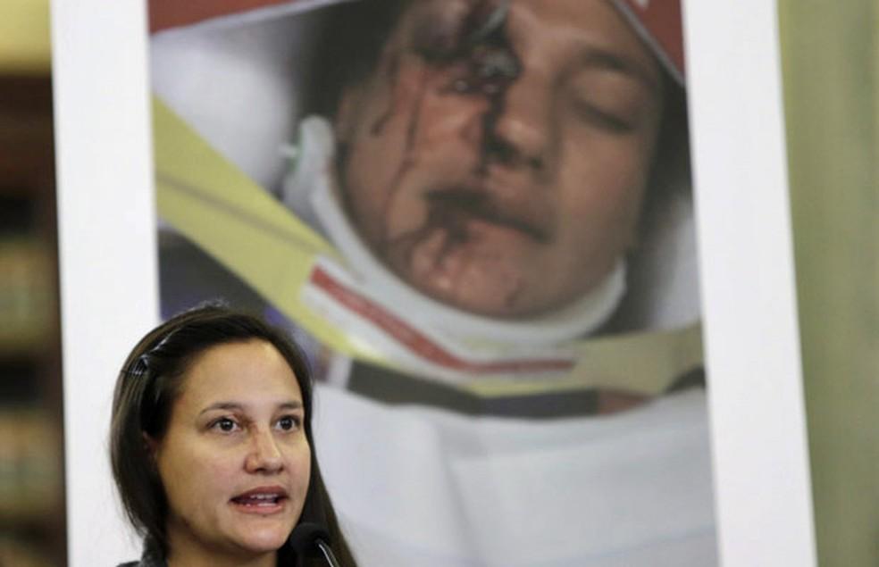Vítima de airbag da japonesa Takata  — Foto: Gary Cameron/Reuters