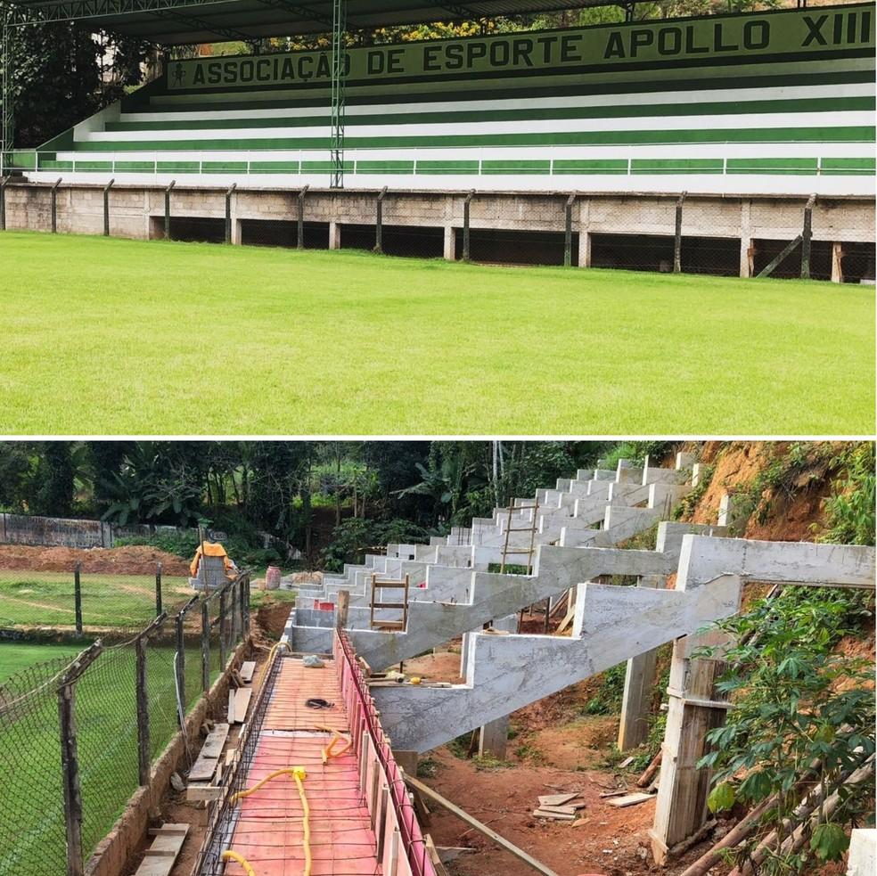 Estádio Edmundo Rupf, em Marechal Floriano, está passando por reformas para ser a casa do Apollo XII na Série B do Capixabão em 2019 (Foto: Divulgação/Apollo XIII)