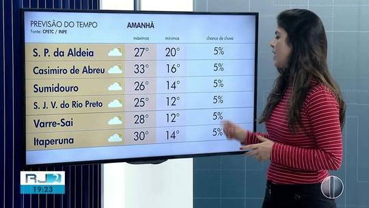 Confira a previsão do tempo para as regiões dos Lagos e Serrana