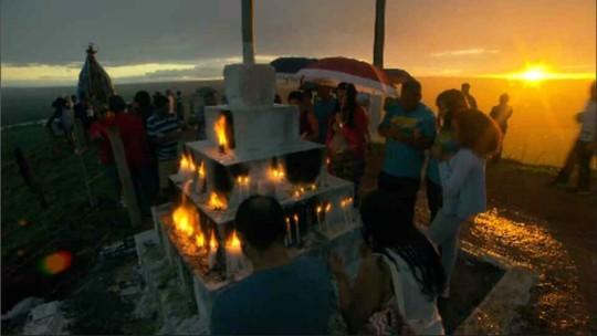 Celebração no Morro da Capelinha