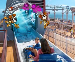 AquaMouse, atração aquática inédita no Disney Wish