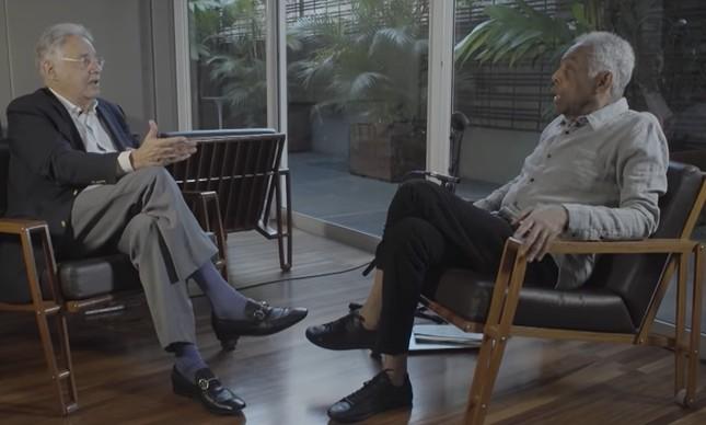 Fernando Henrique e Gilberto Gil