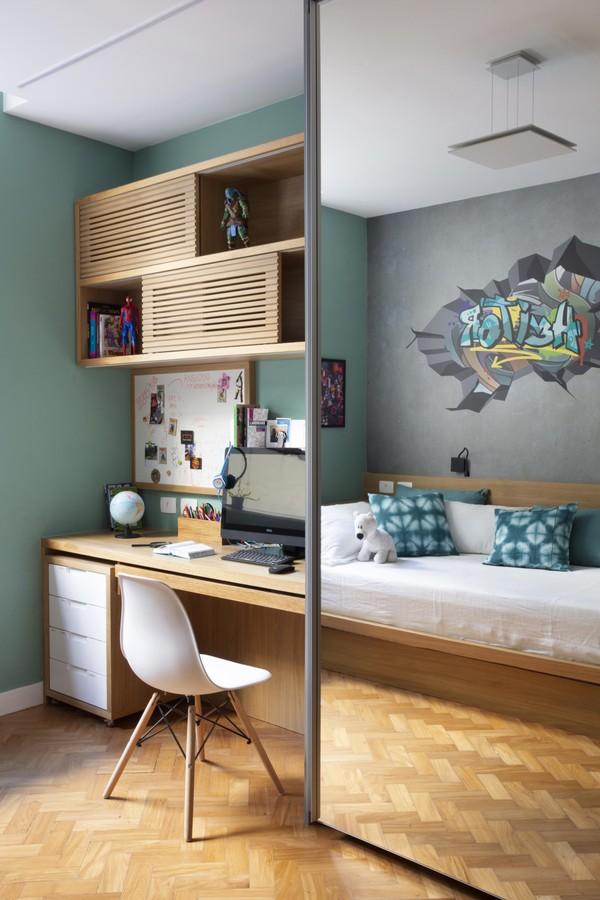 Apartamento térreo passa por reforma total para acomodar a família (Foto: Juliano Colodeti, MCA Estúdio)