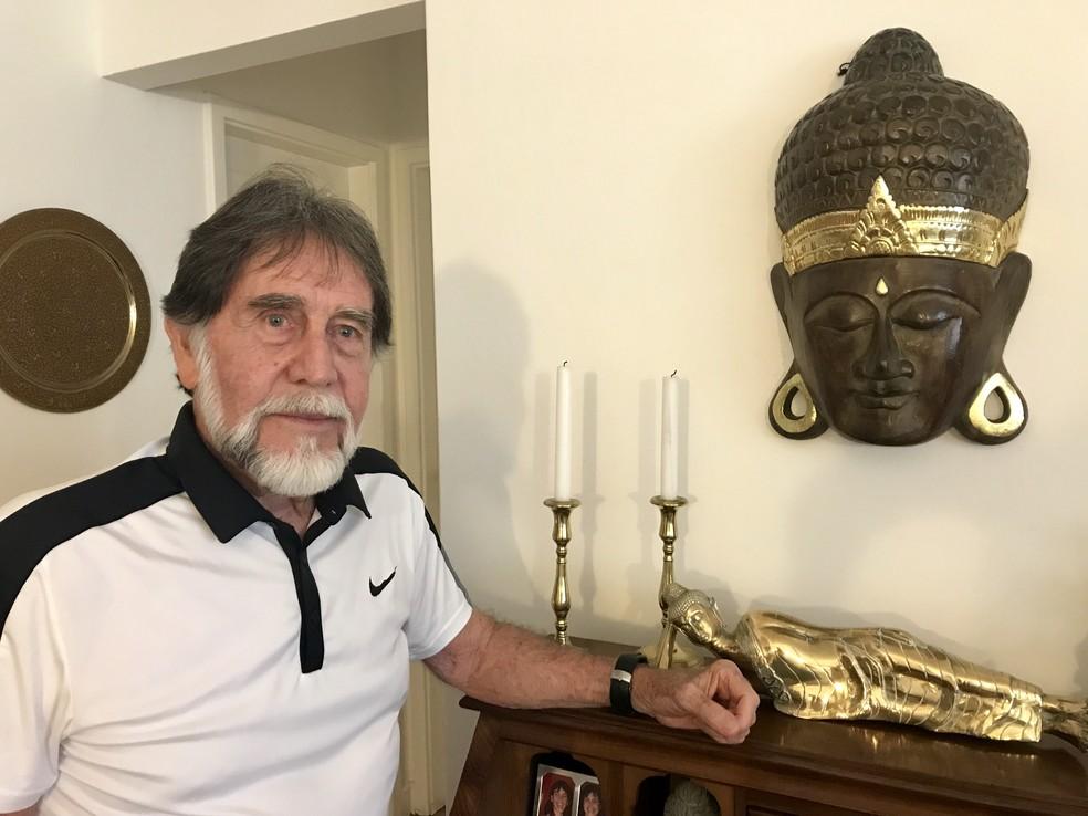 Orlando Cani: aos 82 anos, criador da bioginástica acaba de lançar livro (Foto: Mariza Tavares)