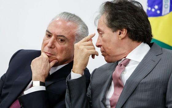 Michel Temer e Eunício Oliveira  (Foto: Alan Santos/PR)