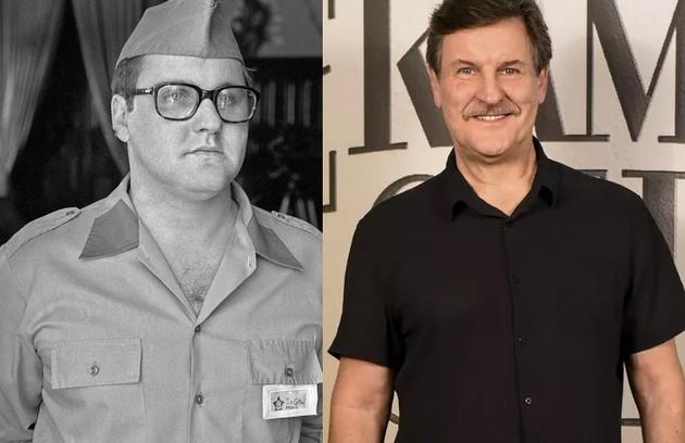 A minissérie marcou a estreia de Antonio Calloni da TV como Clau-Clau, aluno do colégio militar. Recentemente, ele viveu Júlio em 'Éramos seis' (Foto: TV Globo)