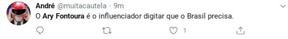 Internauta comenta participação de Ary Fontoura no 'BDSP' (Foto: Reprodução)