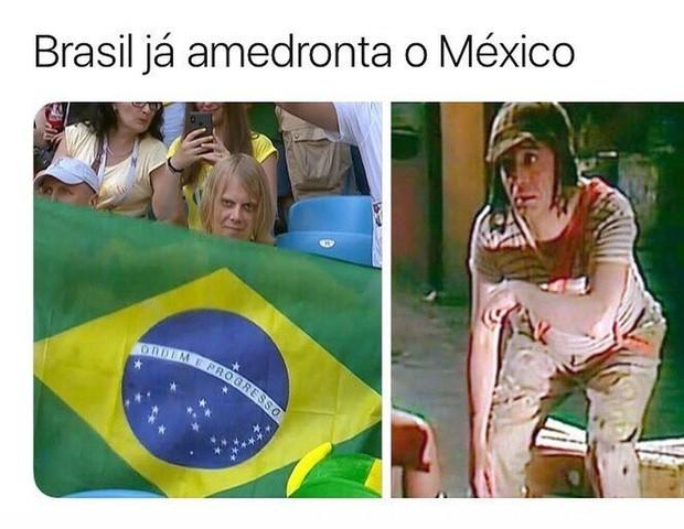 Torcida Brasil x Chaves (Foto: reprodução/twitter)