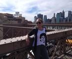 Cissa Guimarães atravessou a Brooklyn Bridge a pé   Arquivo pessoal