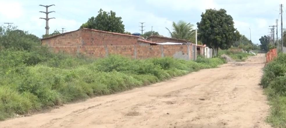 Caso aconteceu no loteamento Luma Torres, no bairro Pedra Ferrada — Foto: Reprodução/ TV Subaé