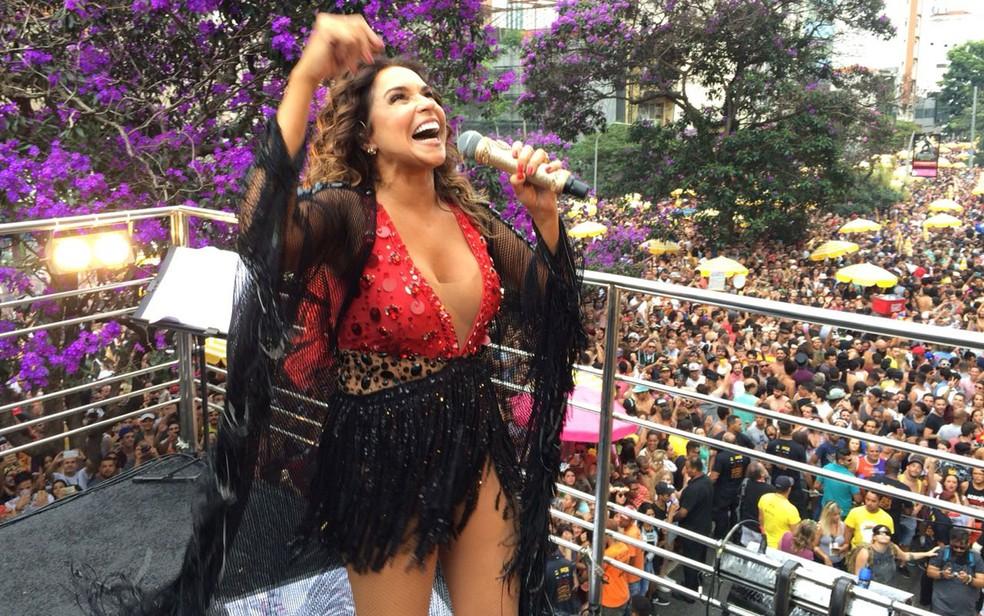 Daniela Mercury mais uma vez vai fechar o carnaval de São Paulo — Foto: Glauco Araújo/G1