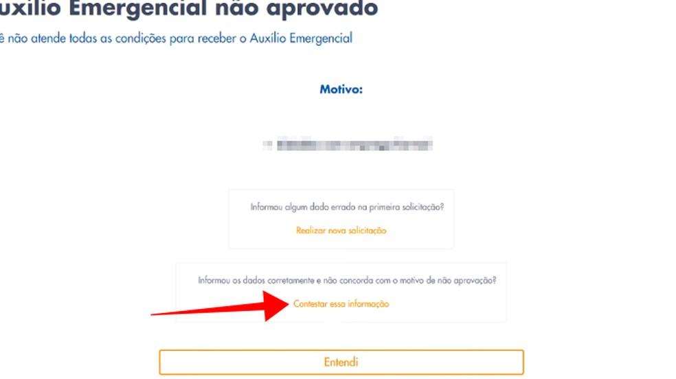 Conteste um pedido negado do Auxílio Emergencial — Foto: Reprodução/Paulo Alves